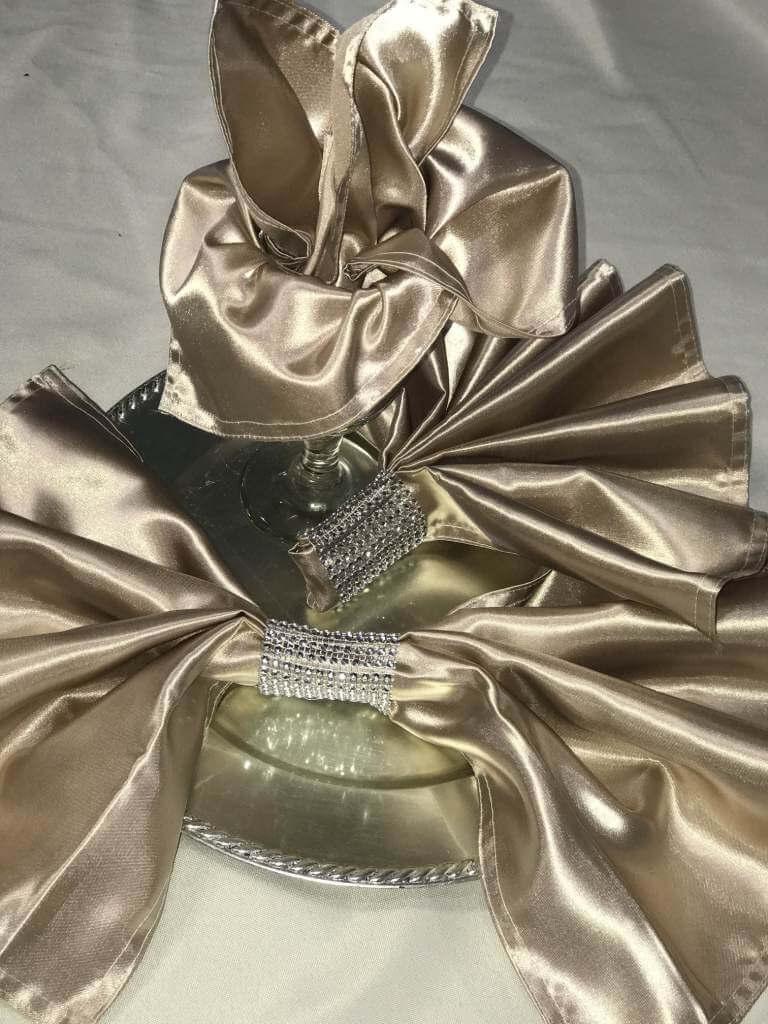 Gold Champagne napkins