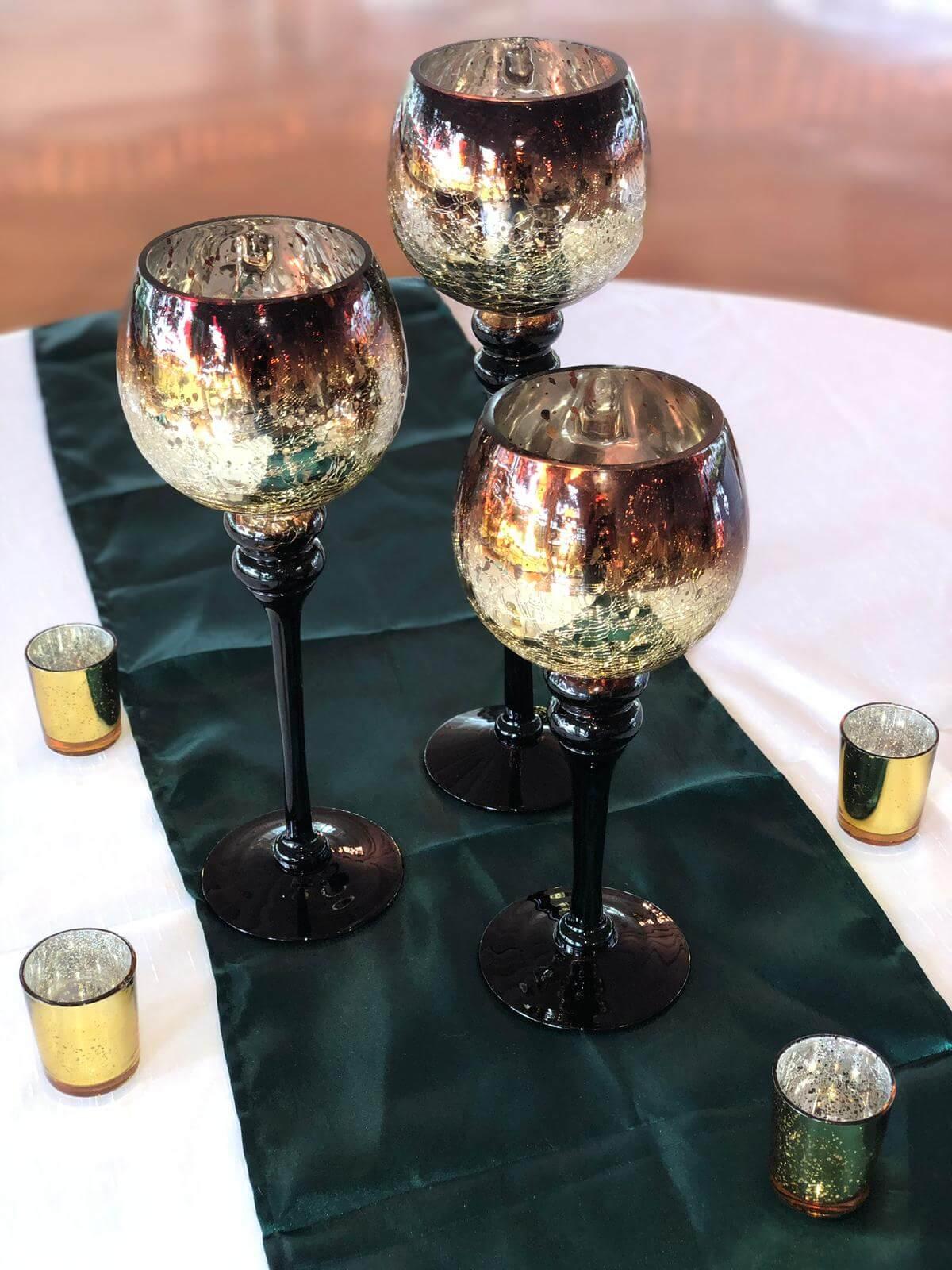 Mercury Gold Crackle 3 piece